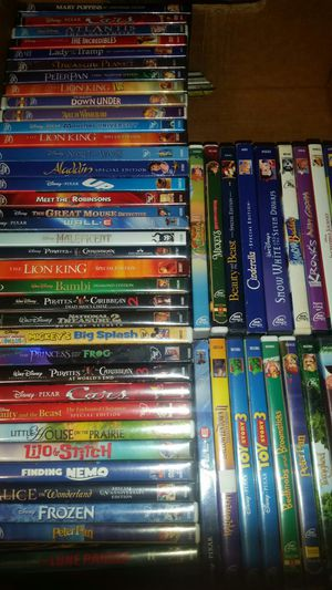 Pick (5) Disney Aladdin Nemo Frozen Mickey Bambi UP Cinderella And More DVD Titles Movie Lot for Sale in Seffner, FL
