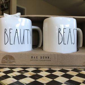 Rae Dunn Beauty And The Beast Mug Set for Sale in Alpharetta, GA