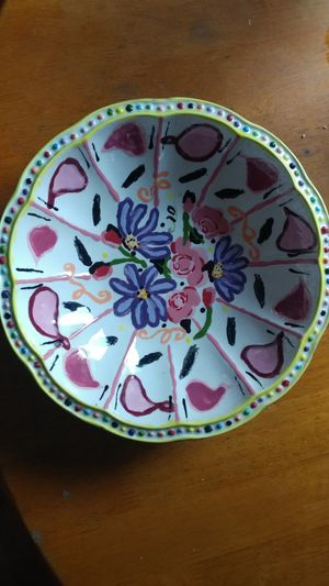 Painted ceramic bowl for Sale in Searsport, ME