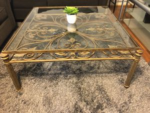 Antique brass coffee table for sale wrought iron for Sale in Springfield, VA