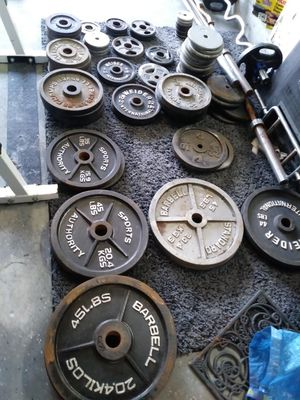 Weights dumbbells curl/bench bars bench press/squat machine weight tree/stand. for Sale in Tampa, FL