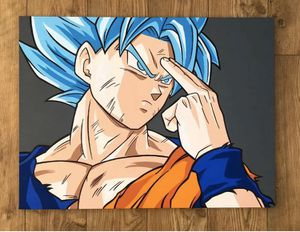"Dragonball Z Super Saiyan Blue Goku Canvas 30"" X 24"" for Sale in Belleville, NJ"