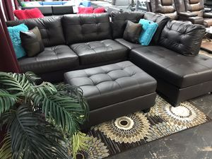 💥Brown Sectional and Ottoman 💥$650 or $39 Down for Sale in Irving, TX