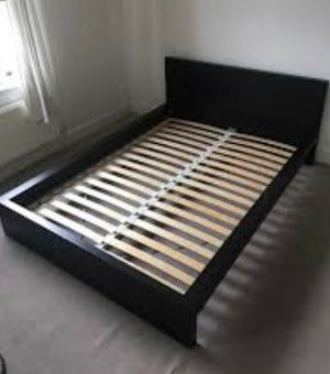 IKEA queen size malm bed frame slats included for Sale in Queens, NY