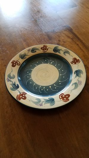 Handpainted Pottery Dinner Plates - set of 12 for Sale in Payson, AZ