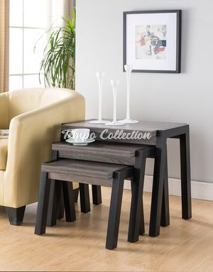 End Table Set of 3, Grey, SKU# ID161610-X3TC for Sale in Norwalk, CA