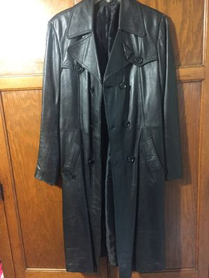 Long leather Jacket / Ladies size 8 for Sale in Cleveland, OH