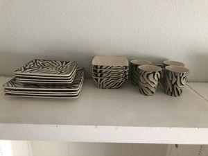 16 pc Zebra Dinnerware Set for Sale in Las Vegas, NV