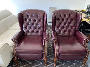 2-Leather Jefferson High Leg Recliners for Sale in Town and Country, MO