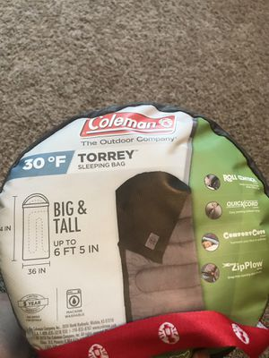Coleman Torrey Sleeping Bag for Sale in Cypress, TX