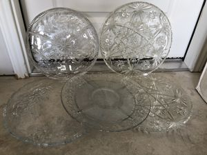 5 serving plates for Sale in Hutto, TX