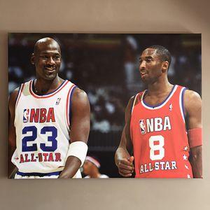 Kobe and Jordan LARGE CANVAS PRINT WALL ART SIZE 30x40 for Sale in Philadelphia, PA