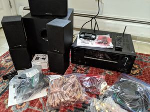Onkyo TX-RZ610 7.2 AV Receiver & Monoprice 5.1 Premium Speaker Set for Sale in Westport, MA