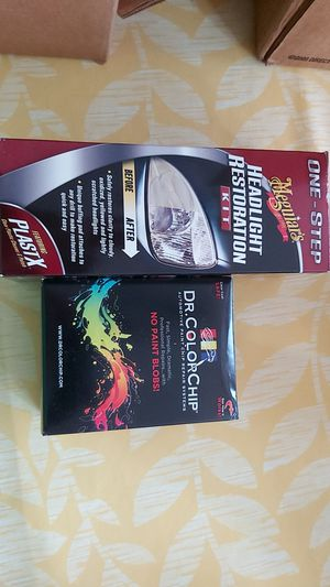 Headlight restoration kit and paint chip kit for Sale in Darien, IL