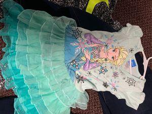 Disney Elsa dress size 6X light blue size 10. The romper 6X never worn all like new for Sale in Birch Run, MI
