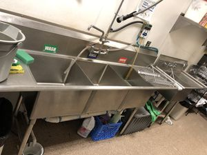 3 compartment sinks stainless for Sale in Seattle, WA
