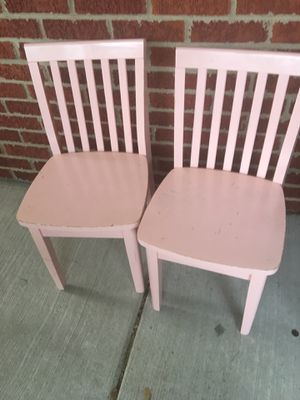 2 wooden pink kids chairs $10 for both for Sale in West Bloomfield Township, MI