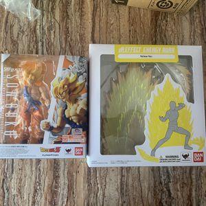 Dragon Ball Z Sh Figuarts Super Saiyan Son Goku With Aura Effect for Sale in Santa Ana, CA