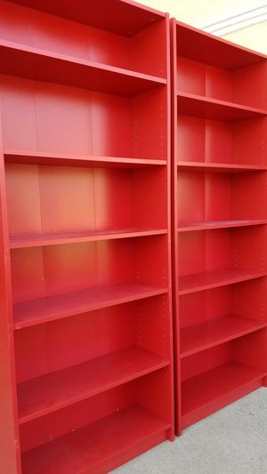 Ikea PAIR = 2 Tall 6 Tier Bookcase Bookshelves Display Organizer Pantry Stand Unit for Sale in Monterey Park, CA