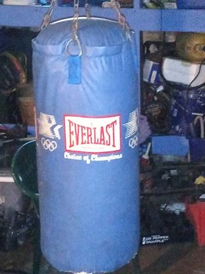 Full size old school punching bag made by Everlast for Sale in St. Louis, MO