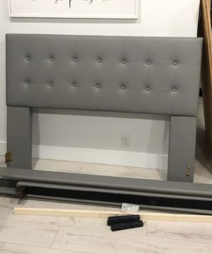 Queen Grey Upholstered Bed Frame for Sale in Federal Way, WA