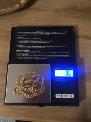 18k gold dope necklace for Sale in Phoenix, AZ