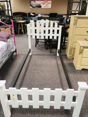 White twin bed for Sale in Camp Lejeune, NC
