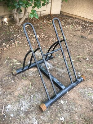 Double Bike Rack - Bicycle Stand for 2 Bikes - full size for Sale in Phoenix, AZ