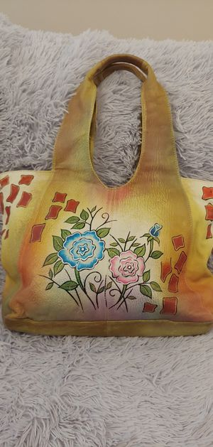 Great American Leatherworks Handpainted Floral Tote for Sale in Columbus, OH