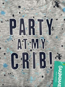 """Garanimals Baby Boys' """"Party At My Crib"""" Graphic Short Sleeve Bodysuit for Sale in The Bronx,  NY"""