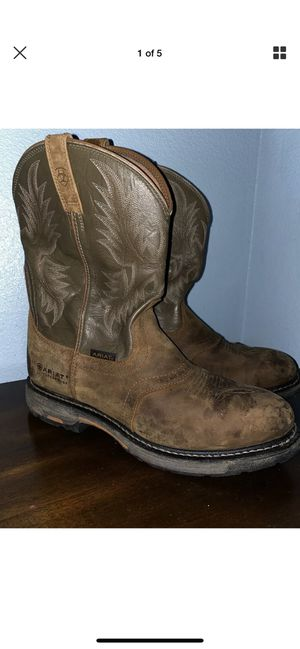 Ariat Men Preowned Western Tan Soft Toe Boot Size 14ee for Sale in Chula Vista, CA