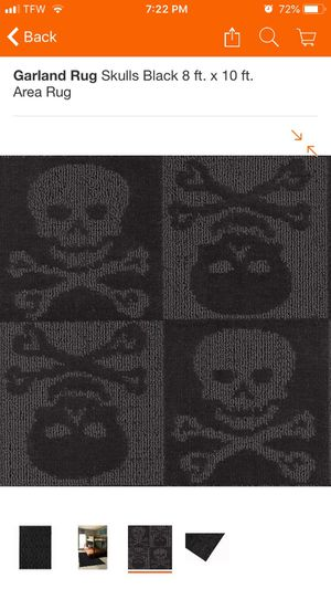 Skull and crossbones Area Rug for Sale in Jersey Shore, PA