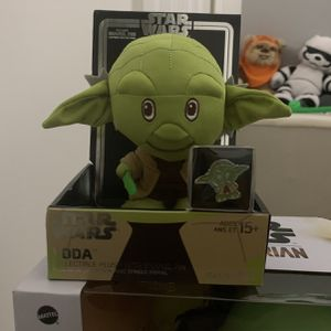 Yoda Collectible Plush With Enamel Pin for Sale in Miami, FL