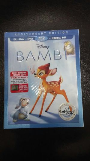 Bambi blueray and dvd for Sale in Los Angeles, CA