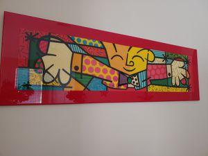 62x19 ROMERO BRITTO ACRYLIC ART PIC for Sale in Delray Beach, FL