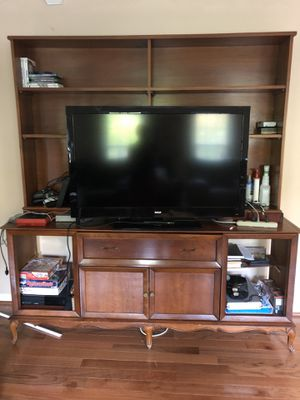 Wood entertainment center for Sale in Silver Spring, MD
