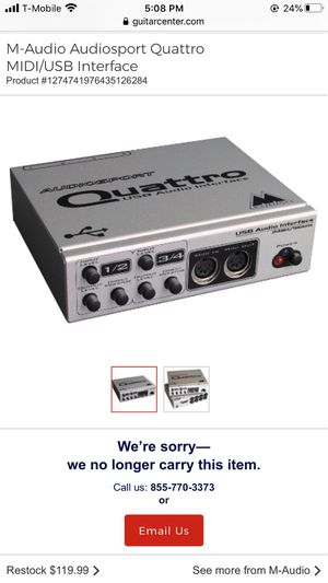 M-Audio Audiosport Quattro MIDI/USB Interface for Sale in Chicago, IL