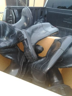 Steel toes rain boots size 12 .... $50...obo for Sale in Miami Gardens, FL