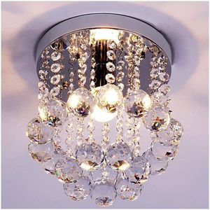 (8 inch) Mini Style Crystal Chandeliers Light Flush Mount Fixture with Crystal Ceiling Lamp for Sale in Arlington, TX