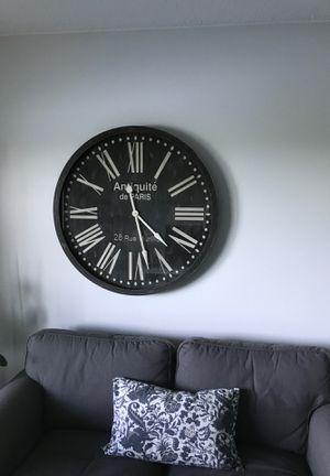 Antique de Paris 28 Rue Murillo wooden clock for Sale in Hillsboro Beach, FL