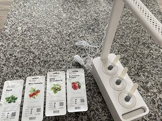 Click and Grow Smart Garden 3 Indoor Herb Garden (Includes Mini Tomatoe, Wild Strawberry, Red Sweet Pepper, Basil Plant Pods), White for Sale in Cleveland,  OH