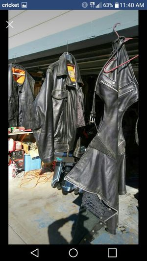 Leather vest jacket and chips for Sale in WA, US