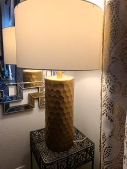 Hammered Rich Gold Lamp for Sale in Houston,  TX