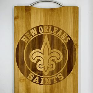 New Orleans saints laser engraved bamboo high quality cuttingboard valentines gift for Sale in Los Angeles, CA
