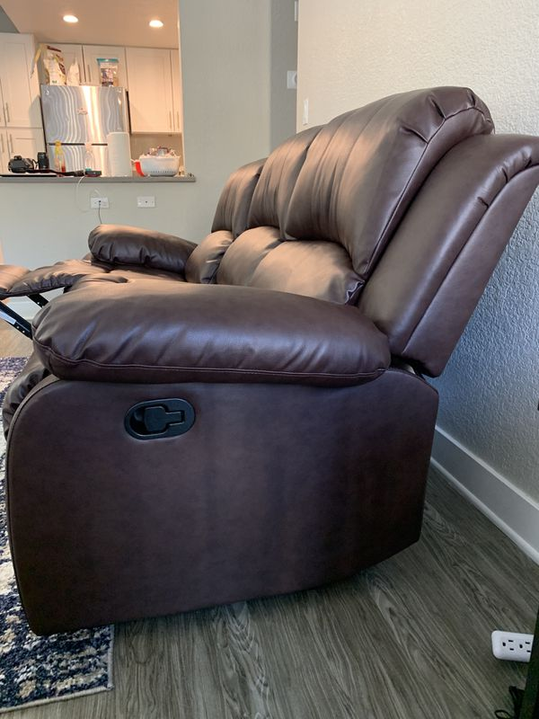 Two Month Old Reclining Leather Sofa For Sale With Shipping Options