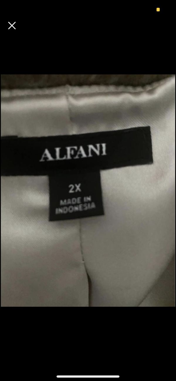 Alfani Faux Rabbit Coat