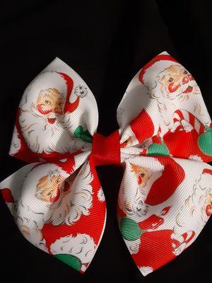 Santa hair bow for Sale in San Antonio, TX