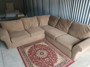 Chocolate sectional (i can deliver) for Sale in Carnegie, PA