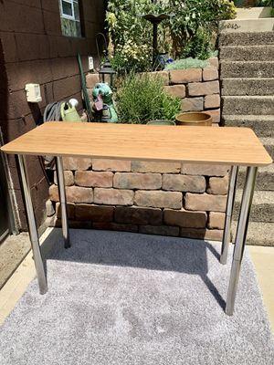 L🍭🍭K LIKE NEW IKEA bamboo desk or kitchen table w/heavy duty adjustable legs for Sale in Monroeville, PA