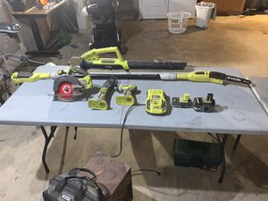 Ryobi power tools and 12 foot electric pole saw for Sale in Lakeside, CA